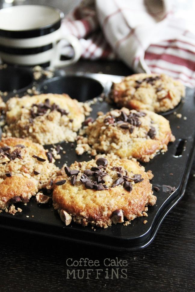 Coffee Cake Muffins Surprise - Dinkel, Råsocker & Hasselnötscreme
